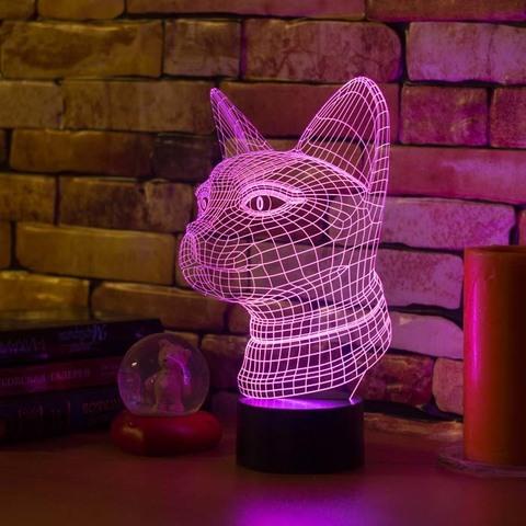 3D светильник Египетская кошка