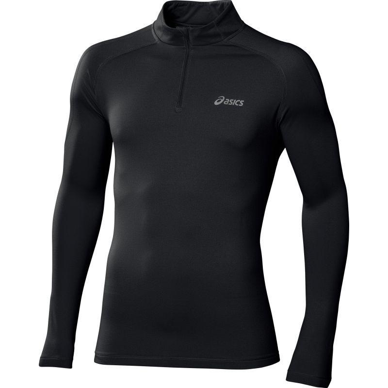 Мужская беговая рубашка асикс Ess Winter 1/2 Zip black (114638 0904)