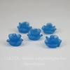 """Кабошон акриловый """"Розочка"""", цвет - светлый синий, 10 мм, 5 штук"""