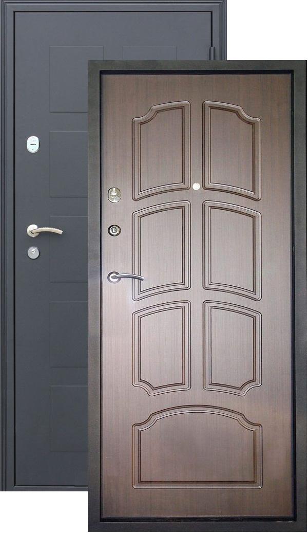входная металлическая дверь стандарт черный металлик
