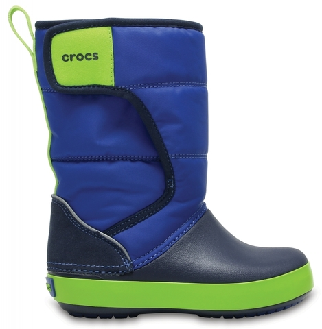 Детские сапоги Crocs Kids' LodgePoint Snow Boot Blue Jean / Navy