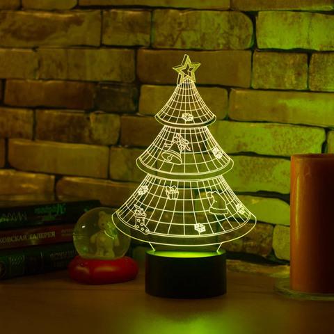 3D ночник Новогодняя ёлочка