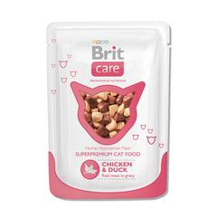 Brit Care Пауч д/кошек Chicken&Duck Курица и утка, 80г