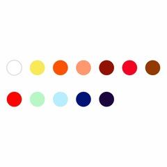Набор минеральных красок для китайской живописи Marie`s, 12 цветов по 12 мл
