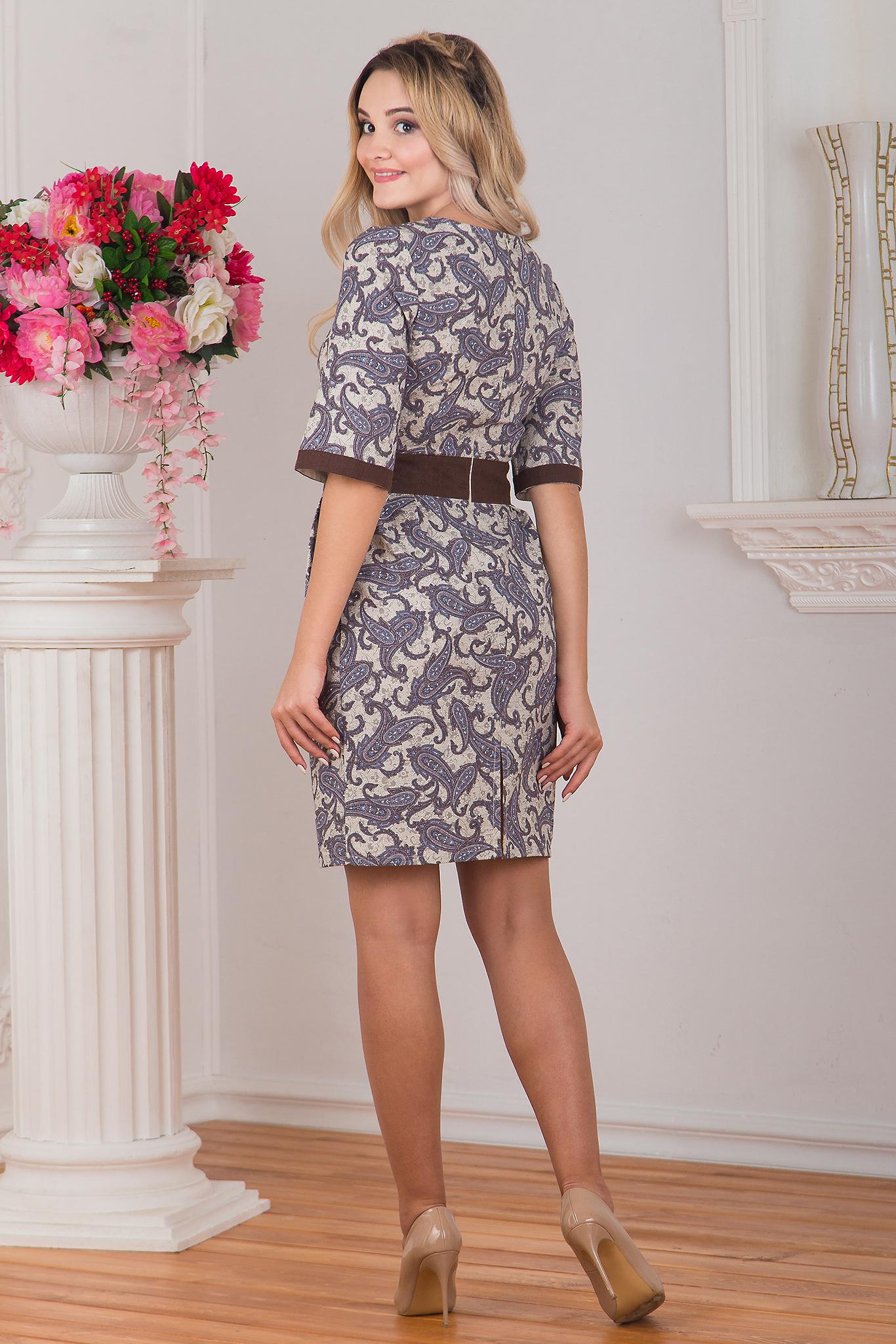Вид сзади Платье Пейсли