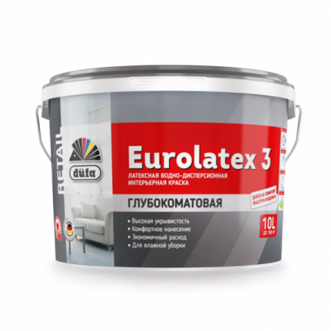 Водно-дисперсионная краска Düfa Retail EUROLATEX 3.