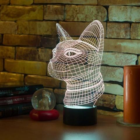 3D лампа Египетская кошка