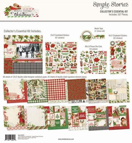 Набор двусторонней бумаги 30х30 см с украшениями - Simple Vintage Christmas