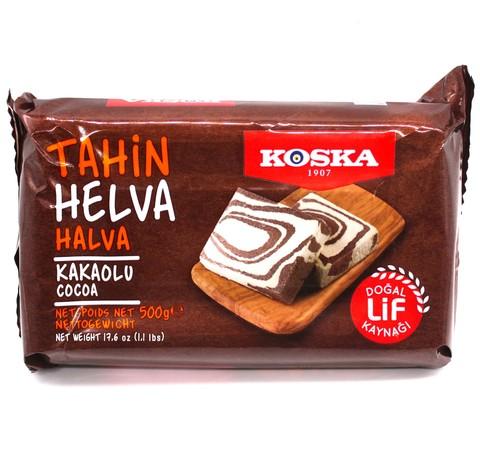Кунжутная халва с какао, Koska, 500 г