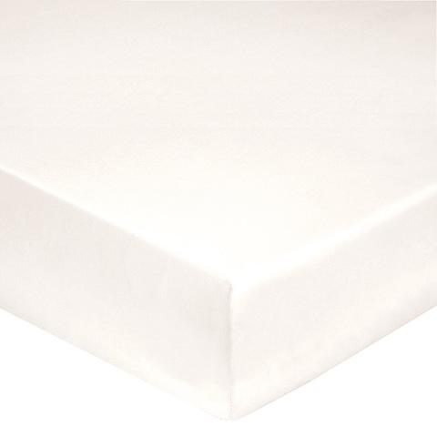 Простыня на резинке 180x200 Blanc des Vosges сатин молочная