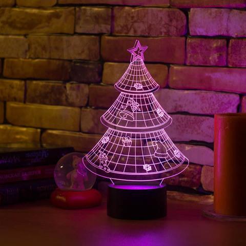 3D светильник Новогодняя ёлочка