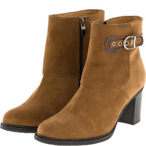 638409 Полусапожки женские замша песок. КупиРазмер — обувь больших размеров марки Делфино