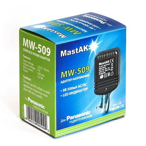 Блок питания MastAK MW-509 (9V 500 mAh)