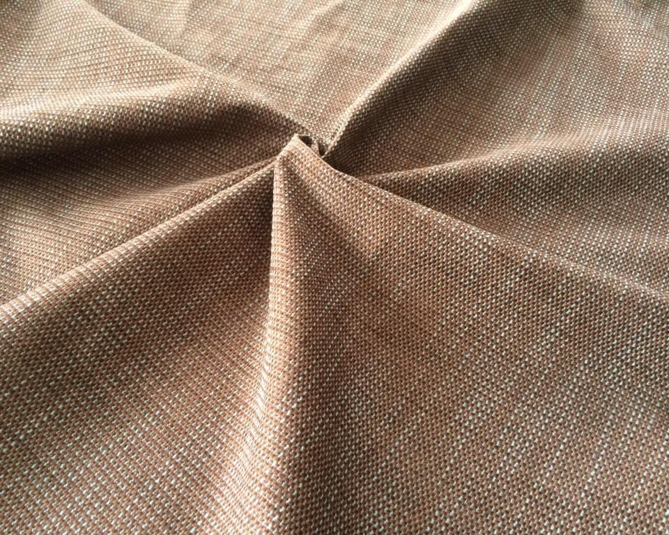 Рогожка Фэнси Азур бирюзово-коричневая