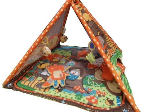 Развивающий коврик-шалаш для новорожденных  Baby Mix Лисенок