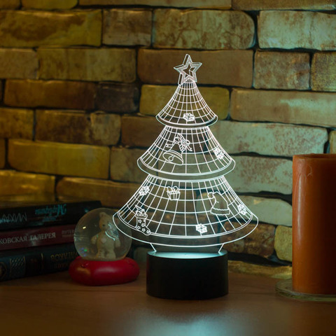 3D лампа Новогодняя ёлочка