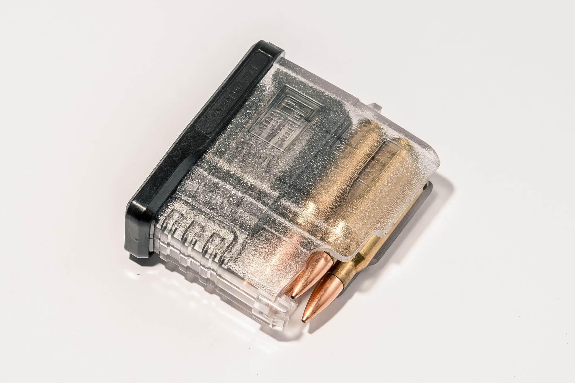 Магазин Pufgun Сайга-308 на 5 патронов, прозрачный
