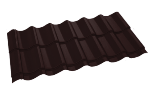 Металлочерепица Арарат Полиэстер RAL 8017 Шоколад