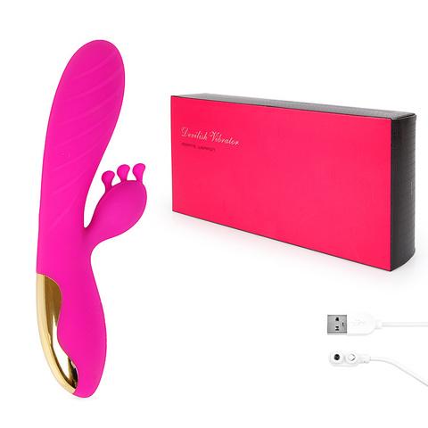 Вибромассажёр розовый со стимулятором клитора