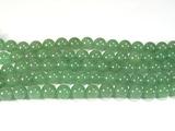 Нити бусин из авантюрина зеленого, шар гладкий 8мм (оптом)