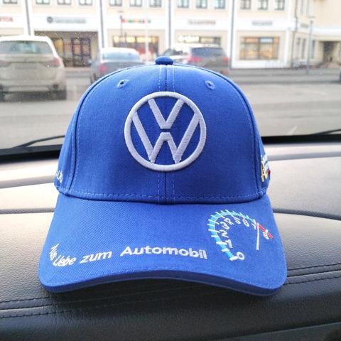 Кепка Фольксваген голубая (Бейсболка Volkswagen)