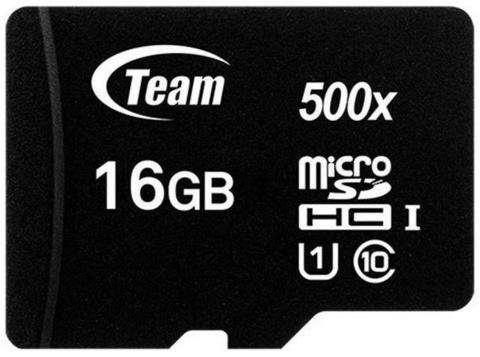 Карта памяти Team microSDHC 16GB Class 10 UHS-I (без адаптера) (TUSDH16GCL10U02)
