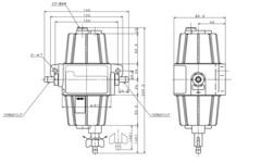 Фильтр топливный Unikas Uf-10K, с фильтрующим элементом