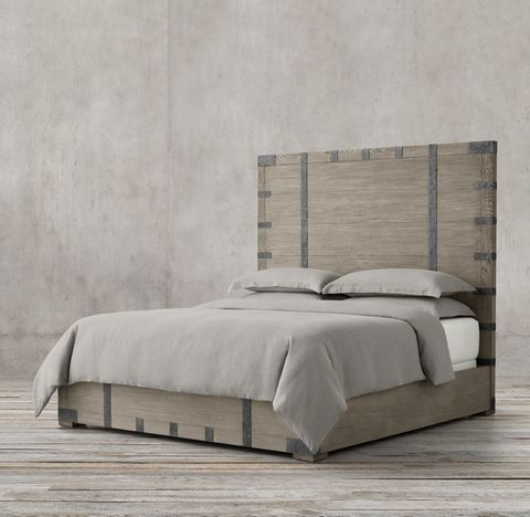Heirloom Silver-Chest Panel Bed