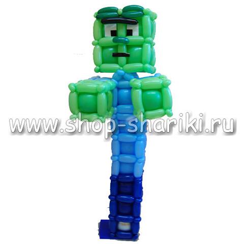 Зомби из шаров из игры Minecraft