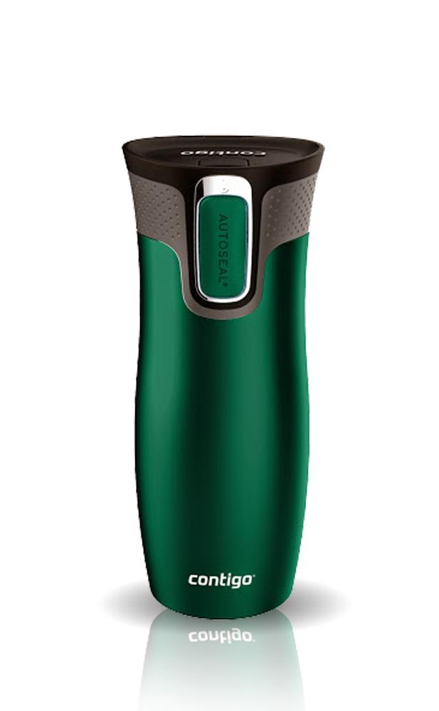 Термокружка Contigo West Loop (0,47 литра), зеленая матовая