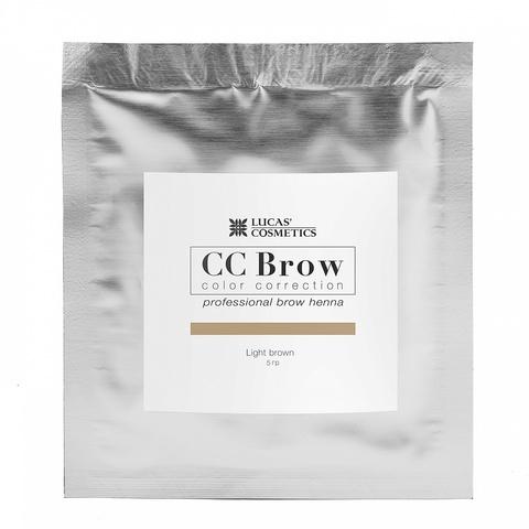 Хна для бровей CC Brows в саше, 5 гр. Цвет Светло- коричневый