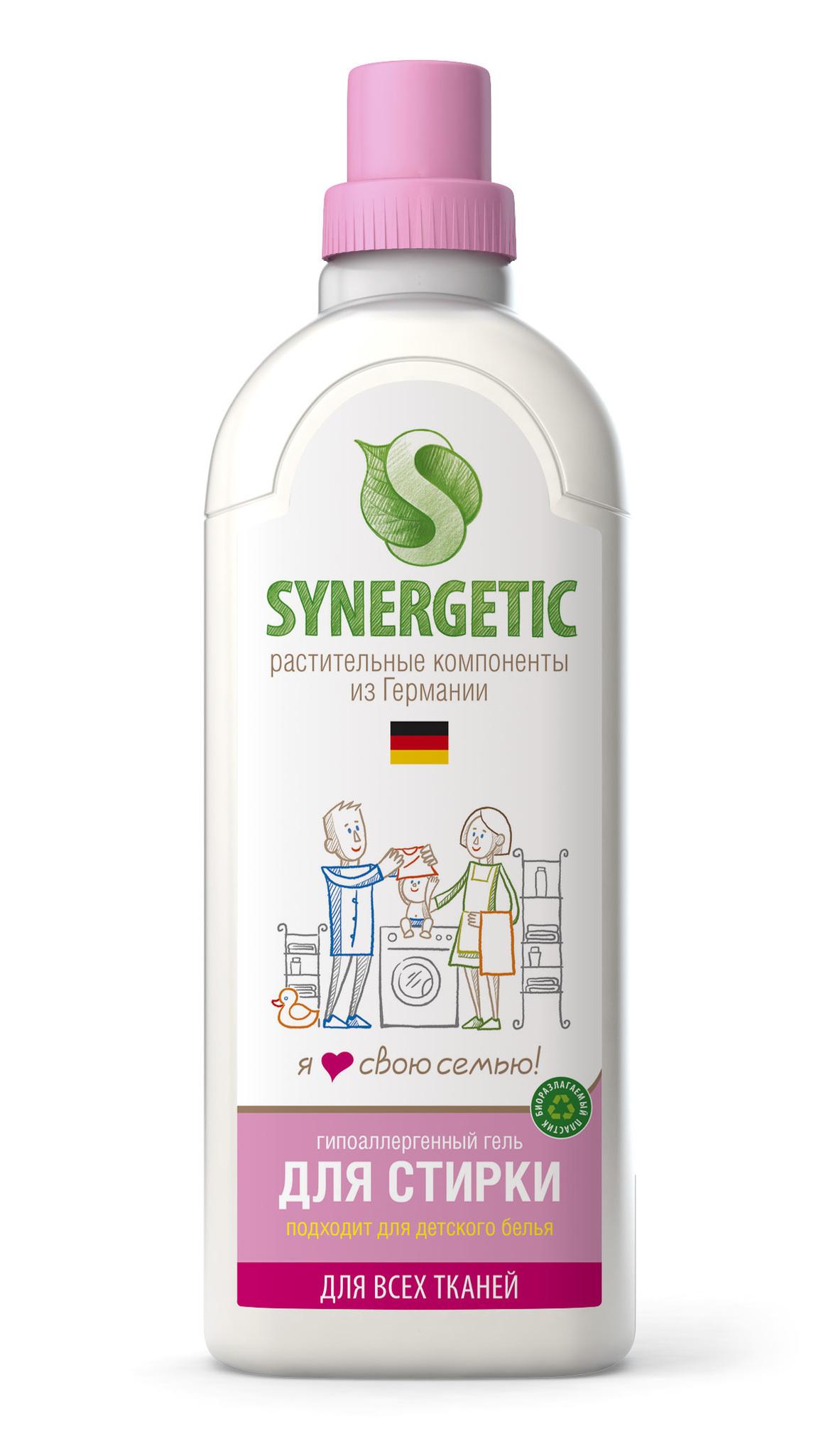 Жидкость для стирки, SYNERGETIC, 1 л.
