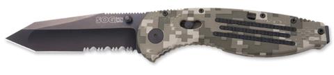 Купить Складной нож SOG Мод. AEGIS TANTO DIGI CAMO BLACK 97023 по доступной цене