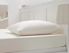 Простыня на резинке 180x200 Blanc des Vosges джерси молочная