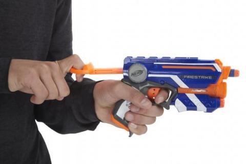 Hasbro: Бластер Nerf «Элит Файрстрайк» — Nerf N-Strike Elite Firestrike Blaster 53378 — Нерф Нёрф Хасбро