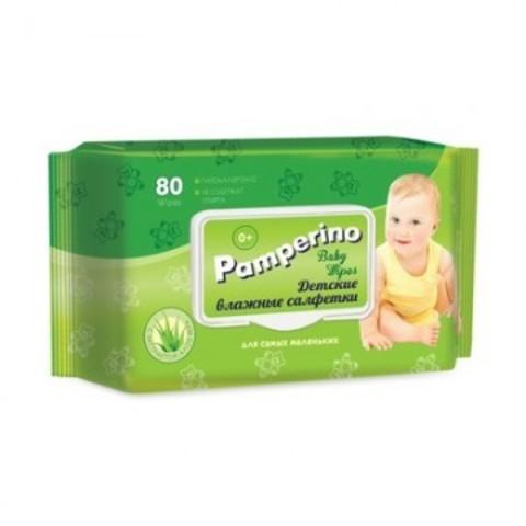 Салфетки влажные PAMPERINO ДЕТСКИЕ 80шт в упаковке с клапаном