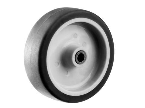 Колесо d=75 мм, г/п 60 кг, термопластич. резина/полипропилен, ЗУБР Профессионал