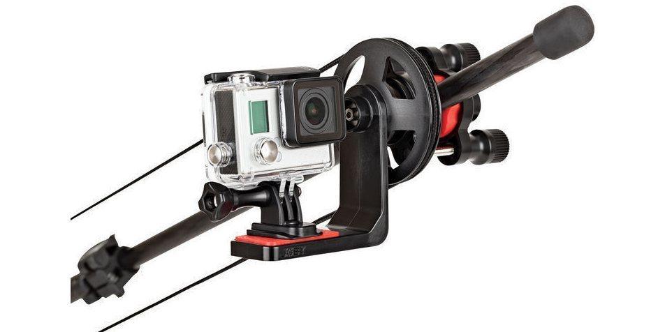 Видеокран-удочка Action Jib Kit & Pole Pack с камерой вид спереди