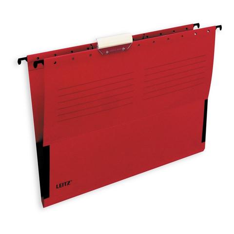 Подвесная регистратура папка LEITZ L-19860125ALFA А4 сбок.ограничит.красна