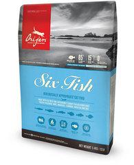Orijen 6 Fish полнорационный корм для кошек и котят всех пород, 6 рыб