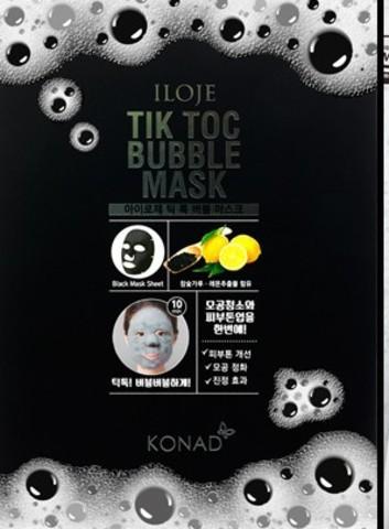 Пузырчатая осветляющая маска для лица TIK TOK Bubble Mask 1 упак. 5 шт.