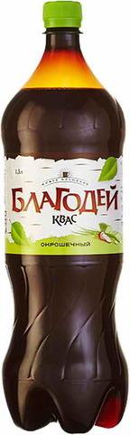 """Квас """"Благодей""""  окрошечный 1,5 л"""