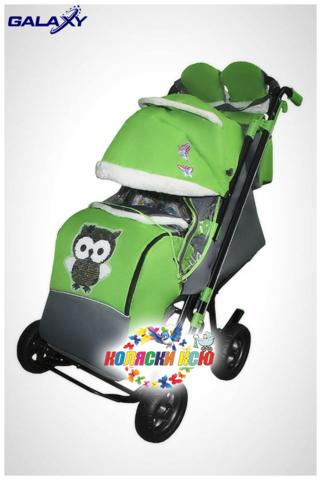 Санки коляска GALAXY CITY 2 «зелёный»
