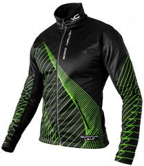 Утеплённая лыжная куртка 905 Victory Code Quantum Black-Green