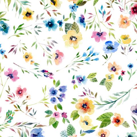 Маленькие разноцветные цветочки