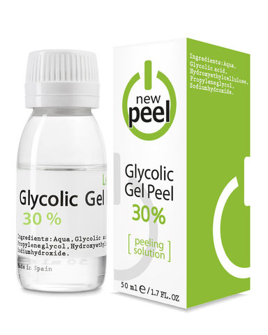 Гликолевый пилинг 30% / NEW PEEL Glycolic Gel-Peel 30% Level 1, 50 ml