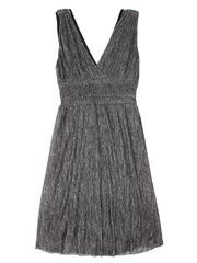 GDR010813 Платье женское, черно-серебристое