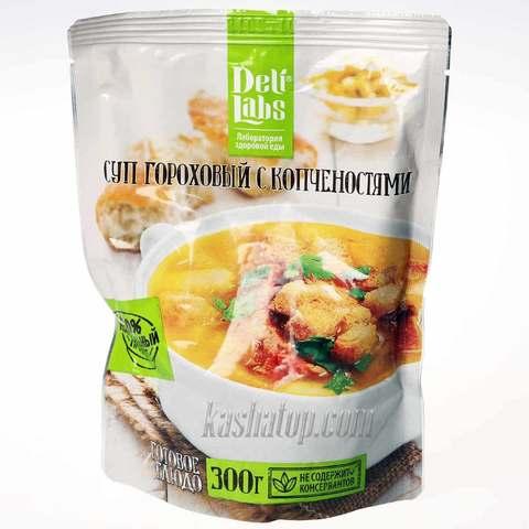 Суп гороховый с копчёностями 'DeliLabs', 300г готовое блюдо купить в магазине Каша из топора