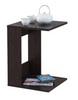 Стол приставной Mayer 1 венге, стекло черное