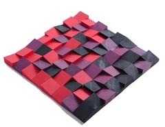 Декоративная  деревянная панель  HarleyWood PIXEL радуга